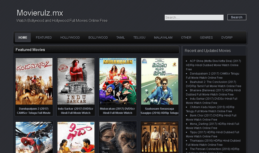 MovieRulz -Download Bollywood, Hollywood HD 300 MB Dubbed Movies Online